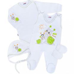 Súpravička 4-dielna New Baby Slimáčik biela