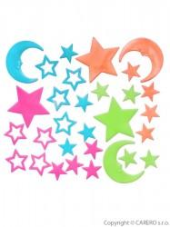 Svietiace samolepky Bayo hviezdičky - 30 ks podľa obrázku