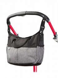 Taška na kočík CARETERO Deluxe black-grey Čierna