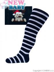 Vianočné bavlnené pančucháčky New Baby tmavo modré