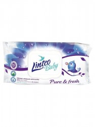 Vlhčené obrúsky Linteo Baby 80 ks Pure and fresh podľa obrázku