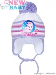 Zimná detská čiapočka New Baby Lisa fialová