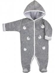 Zimná dojčenská kombinéza Bobash Fashion Ovečky sivá