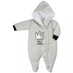 Zimná dojčenská kombinéza Koala Hello World sivá