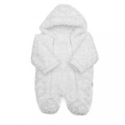 Zimná dojčenská termokombinéza Baby Service Rose biela