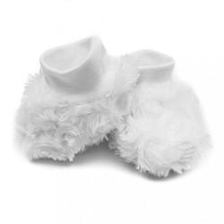 Zimné dojčenské capačky Baby Service Rose biela