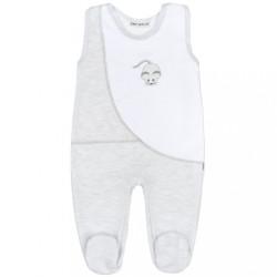 Zimné dojčenské dupačky Baby Service Mouse svetlo sivé