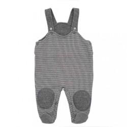Zimné dojčenské dupačky-zahradníčky Baby Service Retro sivá