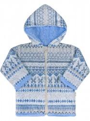 Zimný dojčenský kabátik Baby Service Etnik zima  modrý