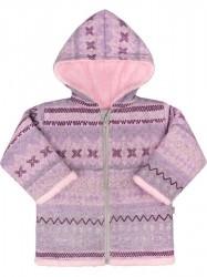 Zimný dojčenský kabátik Baby Service Etnik zima  ružový