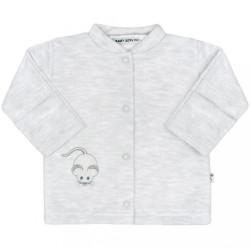 Zimný dojčenský kabátik Baby Service Mouse svetlo sivý
