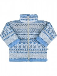 Zimný dojčenský kabátik so stojačikom Baby Service Etnik zima modrý