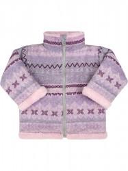 Zimný dojčenský kabátik so stojačikom Baby Service Etnik zima ružový