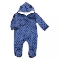 Zimný dojčenský overal z Minky Nicol Bubbles modrý