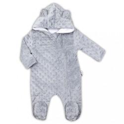Zimný dojčenský overal z Minky Nicol Bubbles sivý