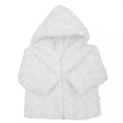 Zimný dojčenský termokabátik Baby Service Rose biela