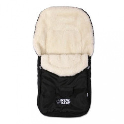 Zimný fusak New Baby Classic Wool black Čierna