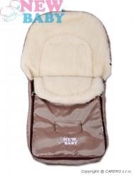 Zimný fusak New Baby Classic Wool brown hnedá