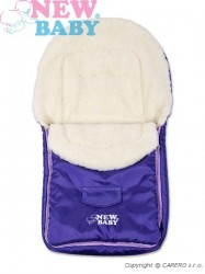 Zimný fusak New Baby Classic Wool violet fialová