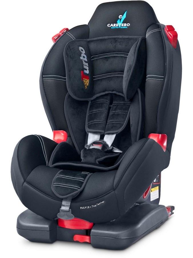 Autosedačka CARETERO Sport TurboFix black 2016 Čierna