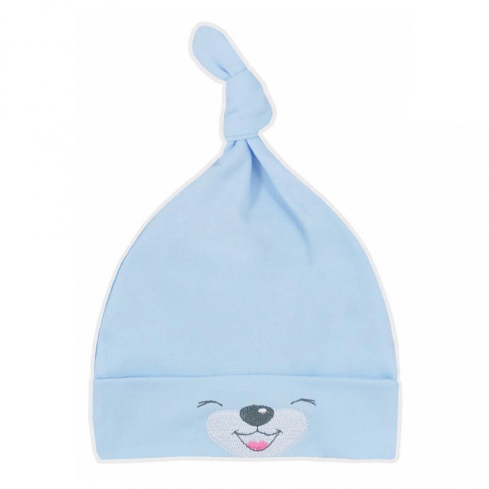 Bavlnená dojčenská čiapočka Bobas Fashion Lucky modrá