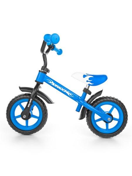 Detské odrážadlo kolo Milly Mally Dragon s brzdou blue modrá
