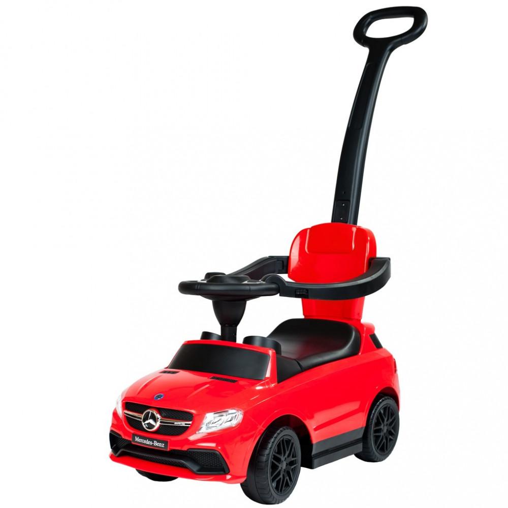 Detské odrážadlo s vodiacou tyčou Mercedes Benz Bayo red Červená