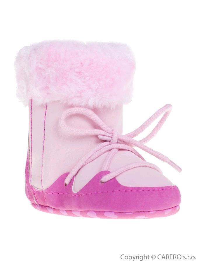e436940c9 Detské zimné capáčky Bobo Baby 3-6m ružové - Dojčenské topánky na ...