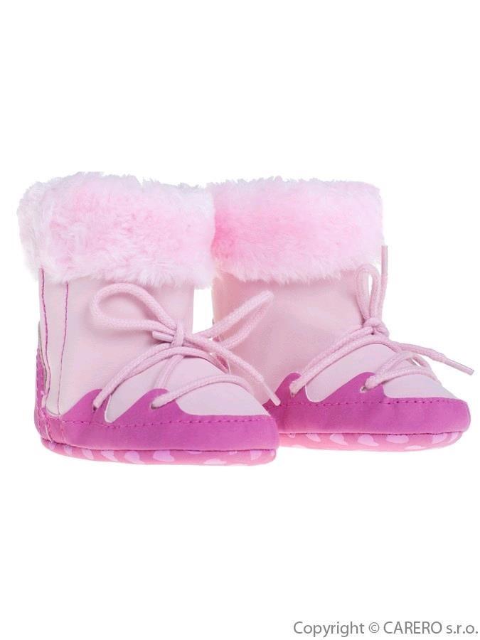 Detské zimné capáčky Bobo Baby 3-6m ružové - Dojčenské topánky na ... b0b0824a492
