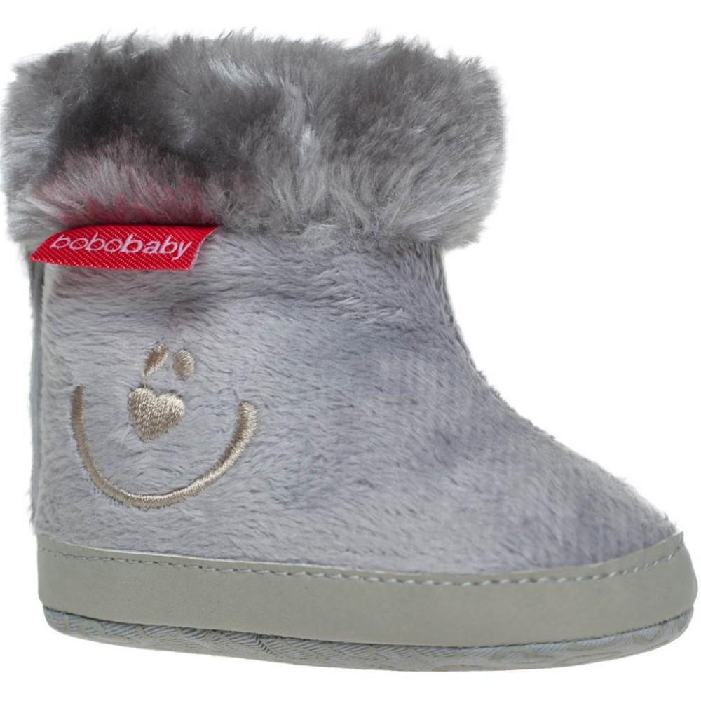 cb1b3d4d6 Detské zimné capáčky Bobo Baby 3-6m sivé - Dojčenské topánky na zimu ...