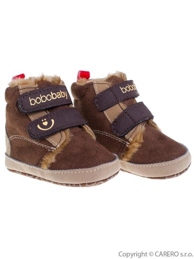 4c8cfd026 Detské zimné capáčky Bobo Baby 3-6m tmavo hnedé - Dojčenské topánky ...