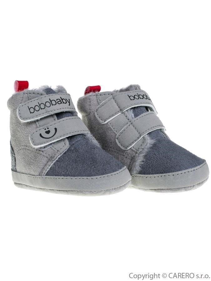 e9d01c5c2 Detské zimné capáčky Bobo Baby 6-12m sivé - Dojčenské topánky na ...