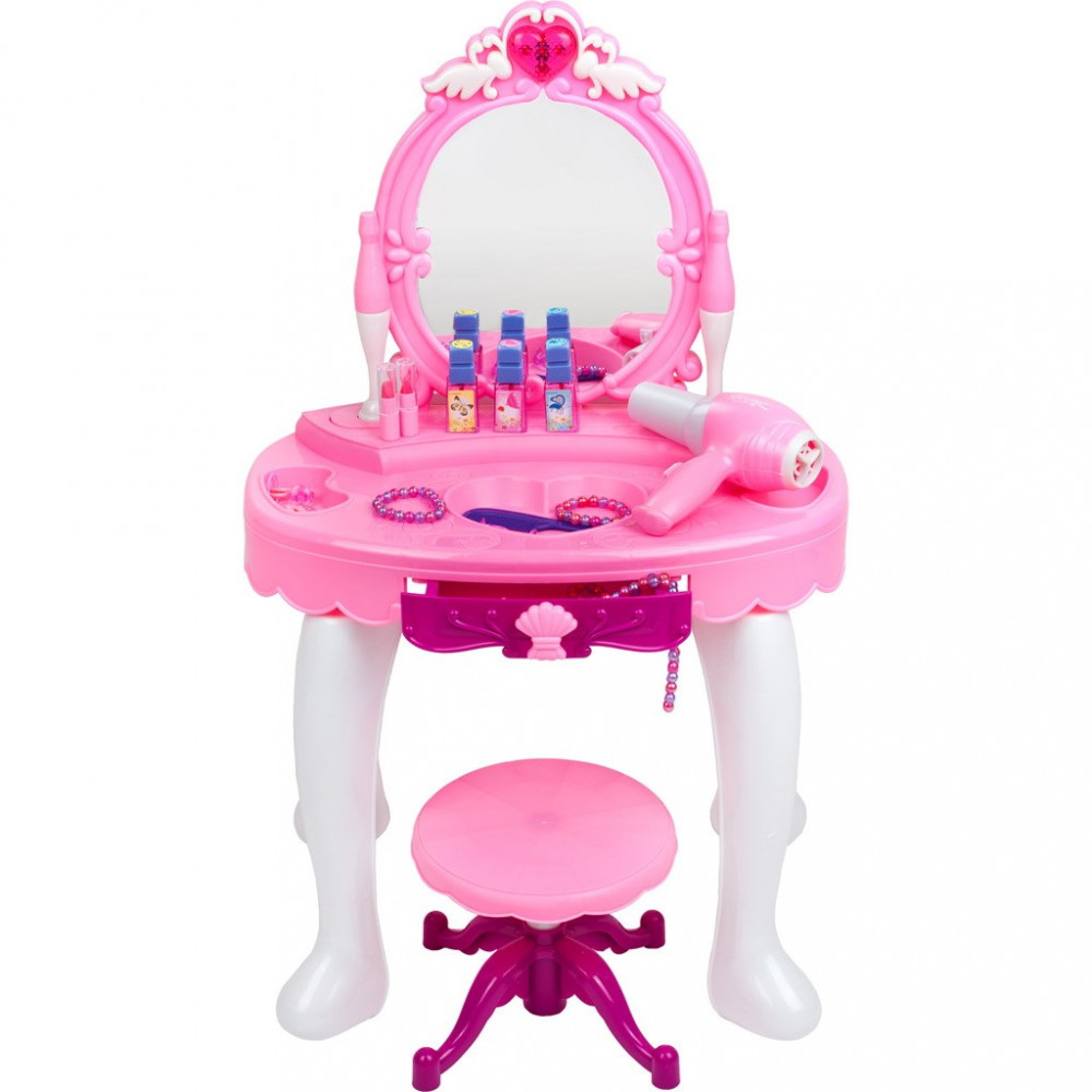 Detský kozmetický stolík Bayo + príslušenstvo ružová