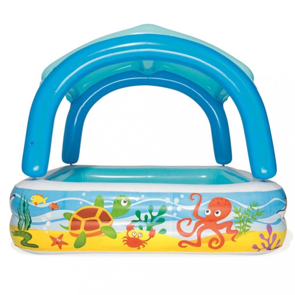 Detský nafukovací bazén so strieškou Bestway more multicolor