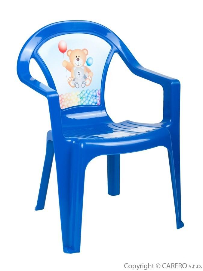 d6282992d3e1 Detský záhradný nábytok - Plastová stolička modrá - Detské plastové ...