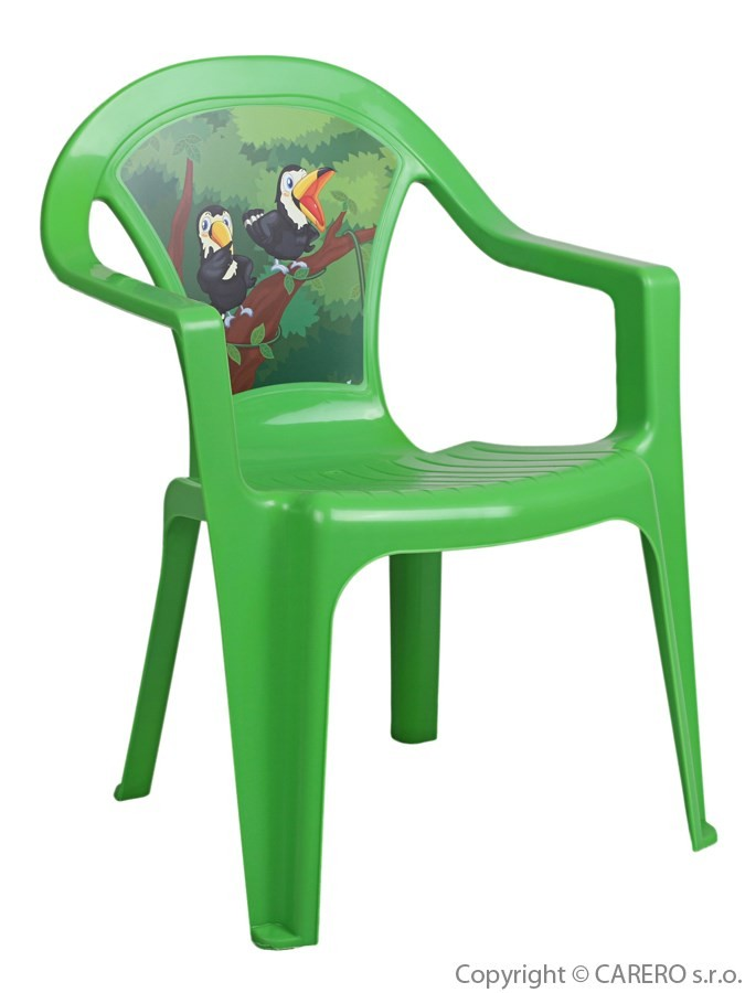 aca6338de119 Detský záhradný nábytok - Plastová stolička zelená - Detské plastové ...