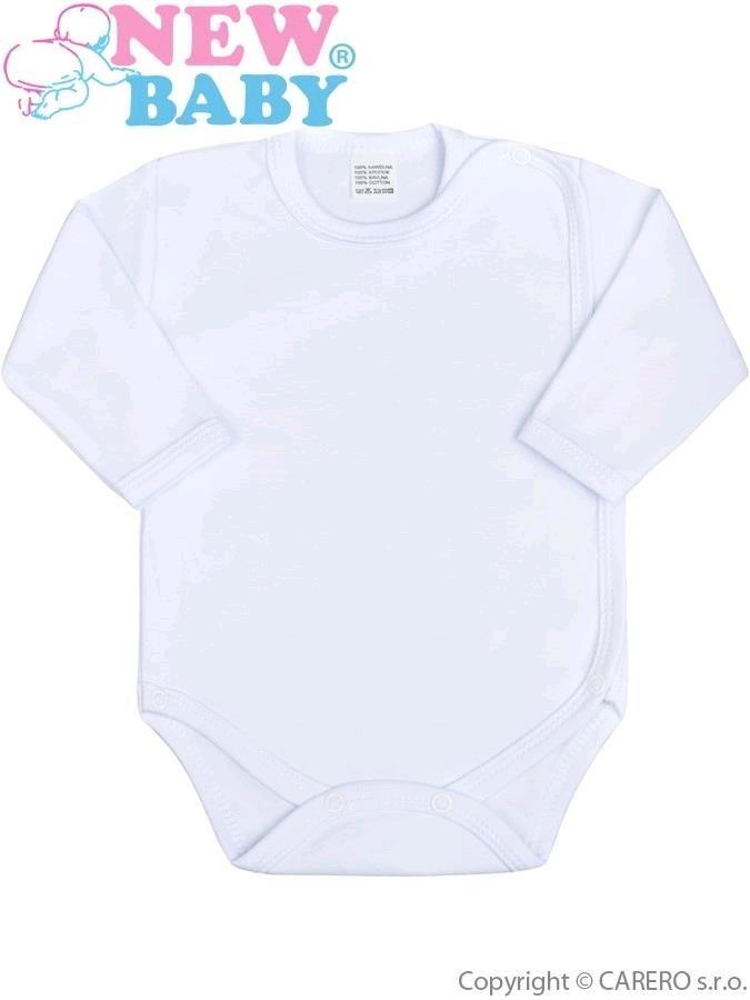 Dojčenské body celorozopínacie New Baby Classic bíle biela