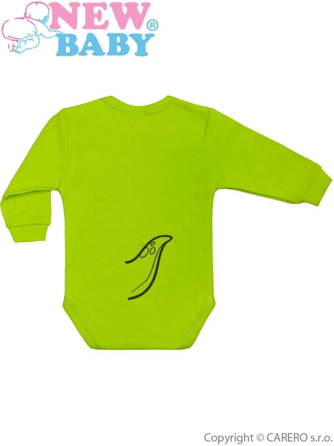 0a17d08a4bc4 Dojčenské body s dlhým rukávom New Baby Zvieratko Dinosaurus svetlo zelené   2