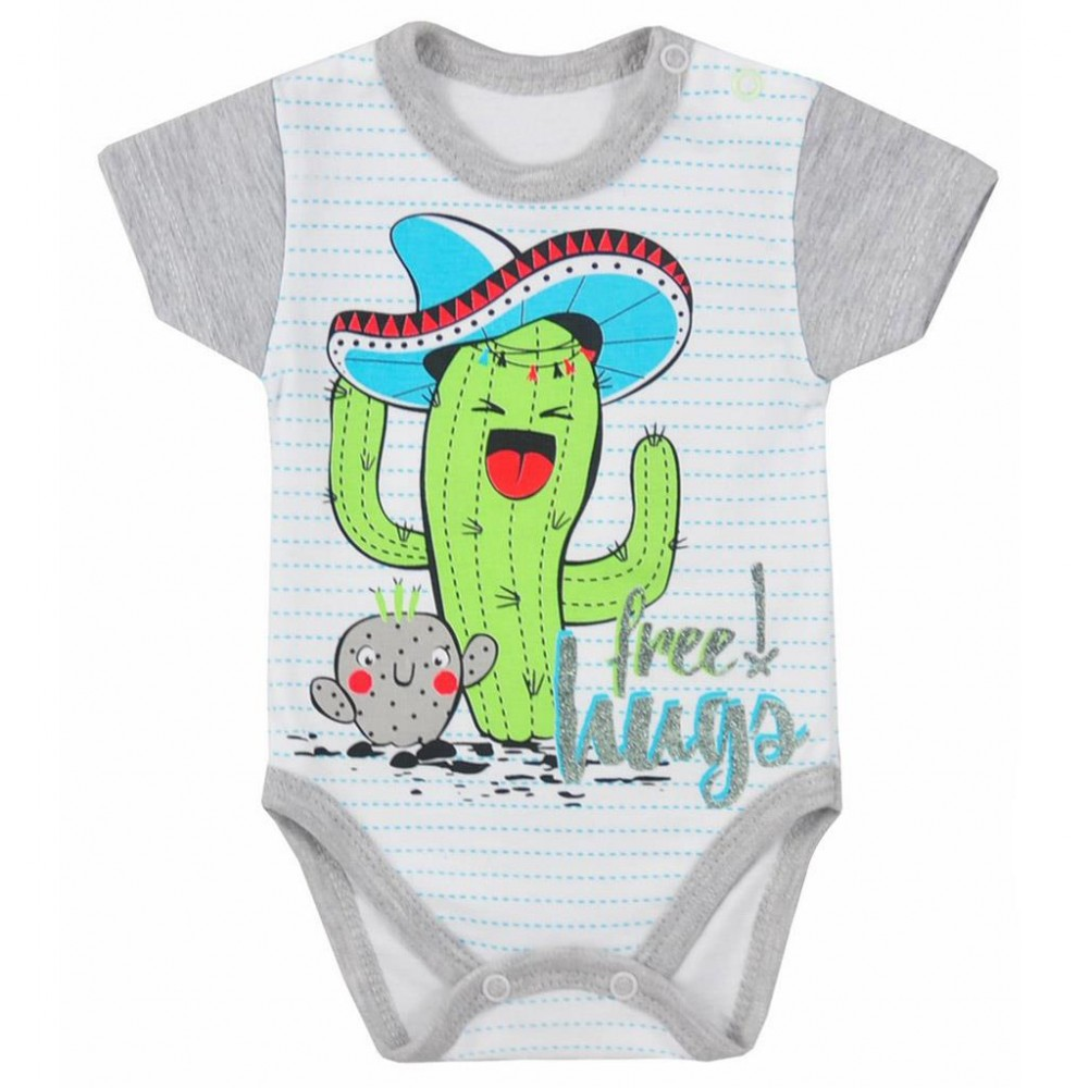 49fd6d93a Dojčenské body s krátkym rukávom Koala Cactus Summer sivé - Detské ...