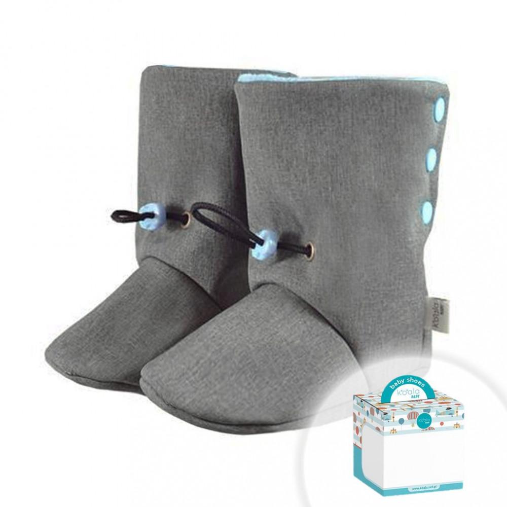 Dojčenské SoftShellové capačky Koala v krabičke modré 6-11 mesiacov