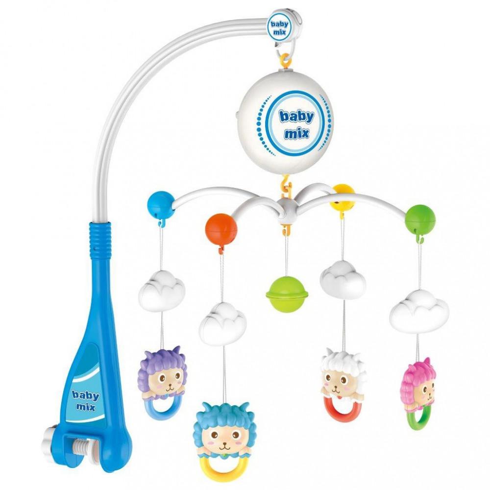 Elektrický kolotoč nad postieľku Baby Mix ovečky multicolor