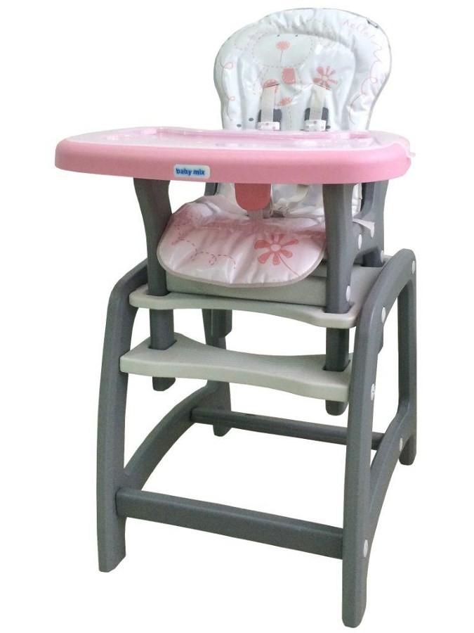 d8e7e3db6fb9 Jedálenská stolička Baby Mix 2v1 ružová - Detské plastové stoličky ...