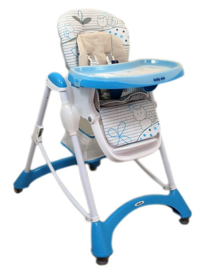 5e385487129e Jedálenská stolička Baby Mix blue modrá - Detské plastové stoličky ...