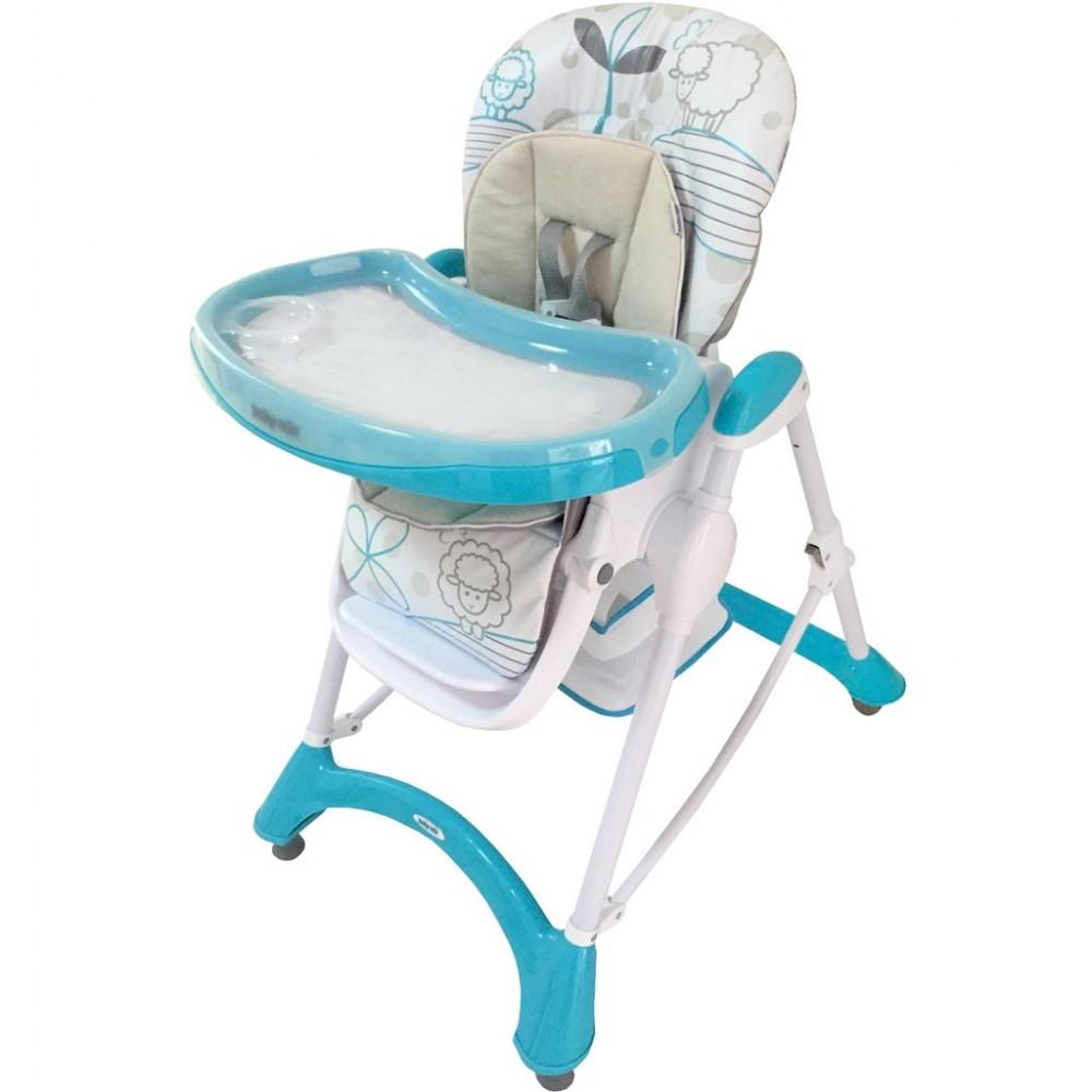20411c6e563b Jedálenská stolička Baby Mix turquoise tyrkysová - Detské plastové ...