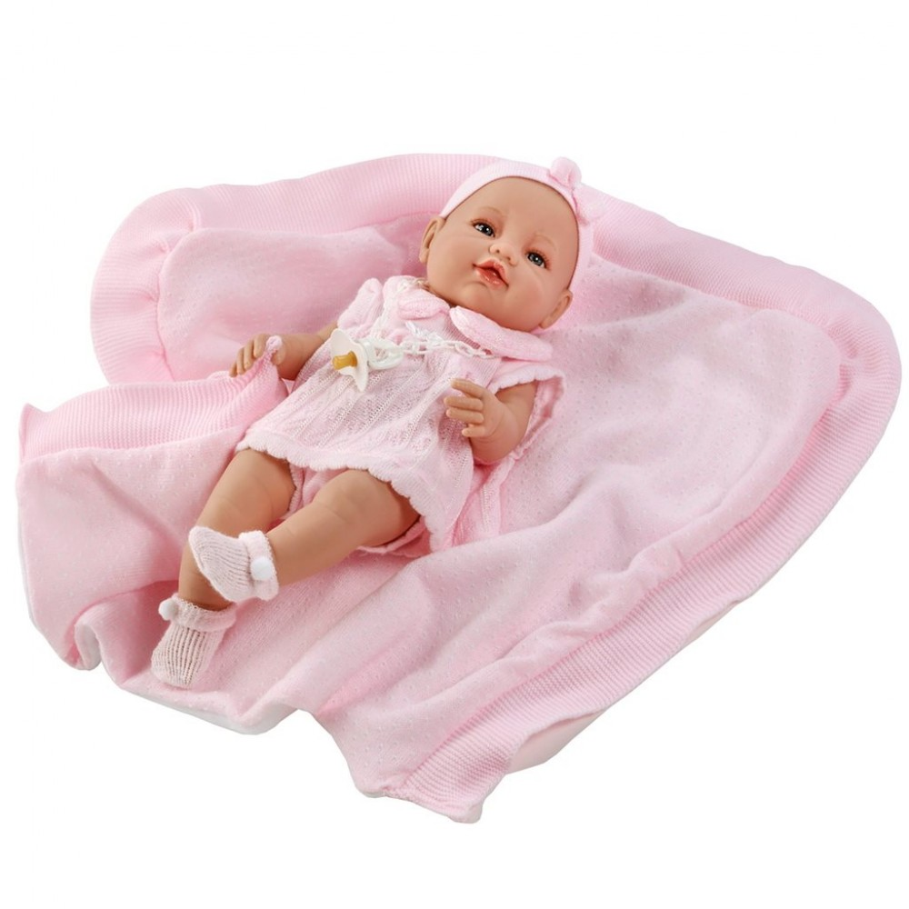 Luxusná detská bábika-bábätko Berbesa Ema 39cm ružová