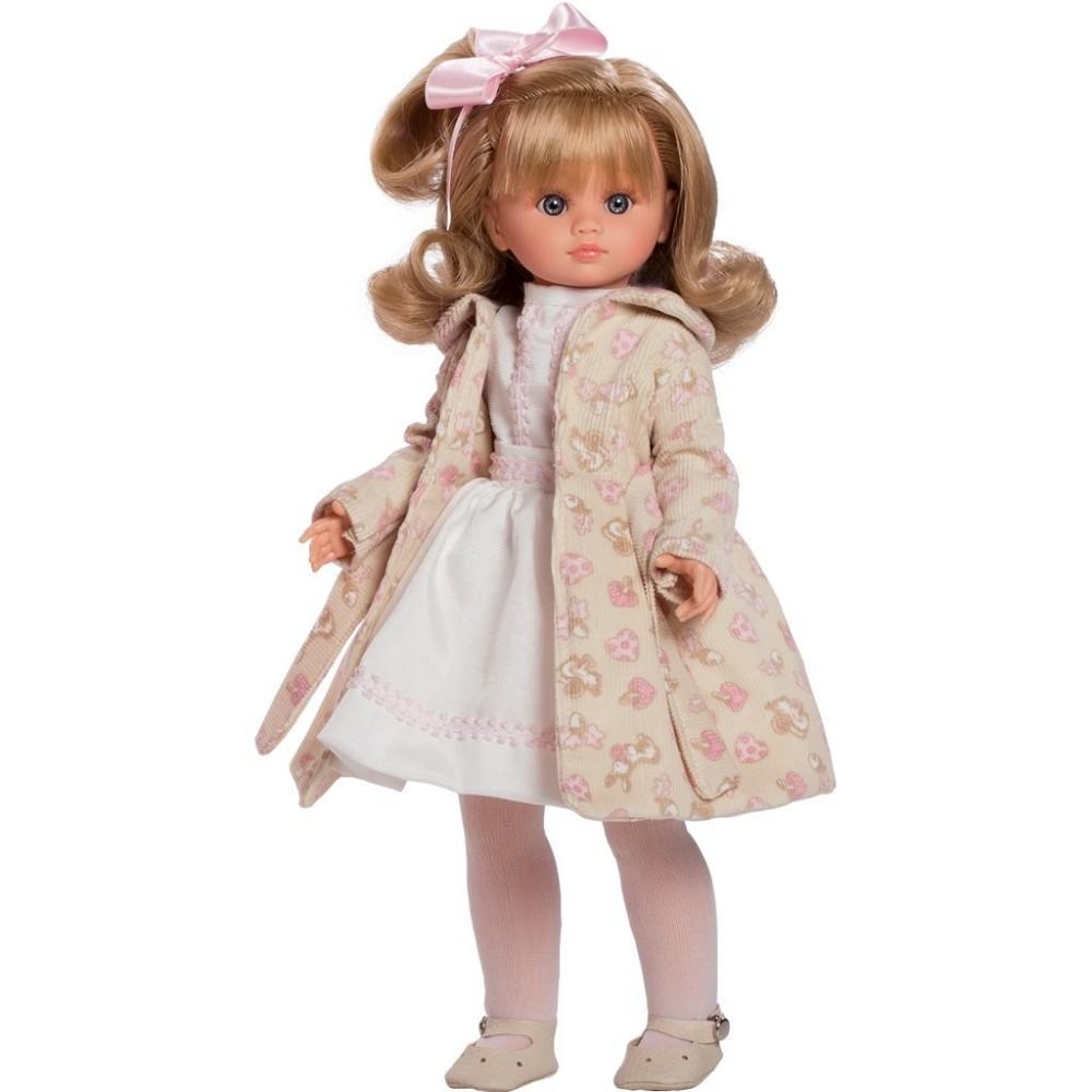 Luxusná detská bábika-dievčatko Berbesa Flora 42cm béžová