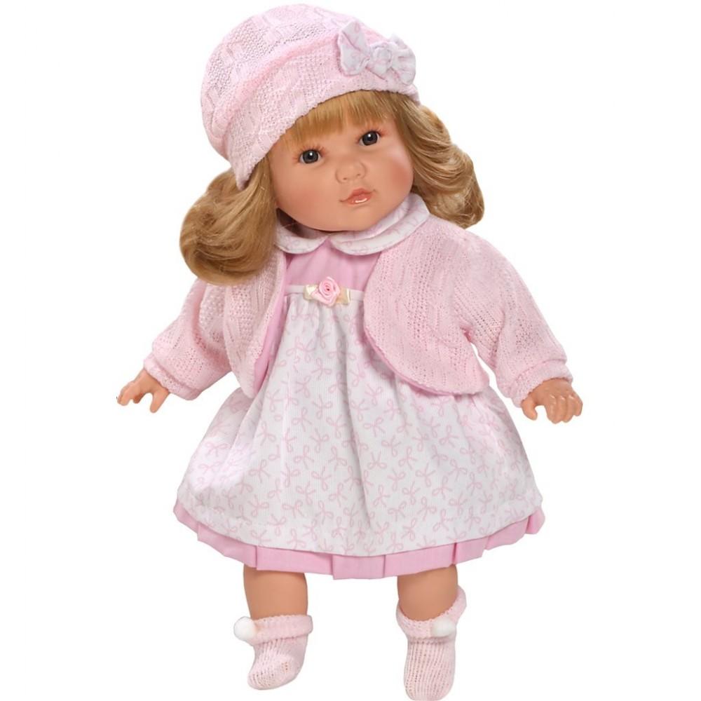 Luxusná hovoriaca detská bábika-dievčatko Berbesa Nina 40cm ružová