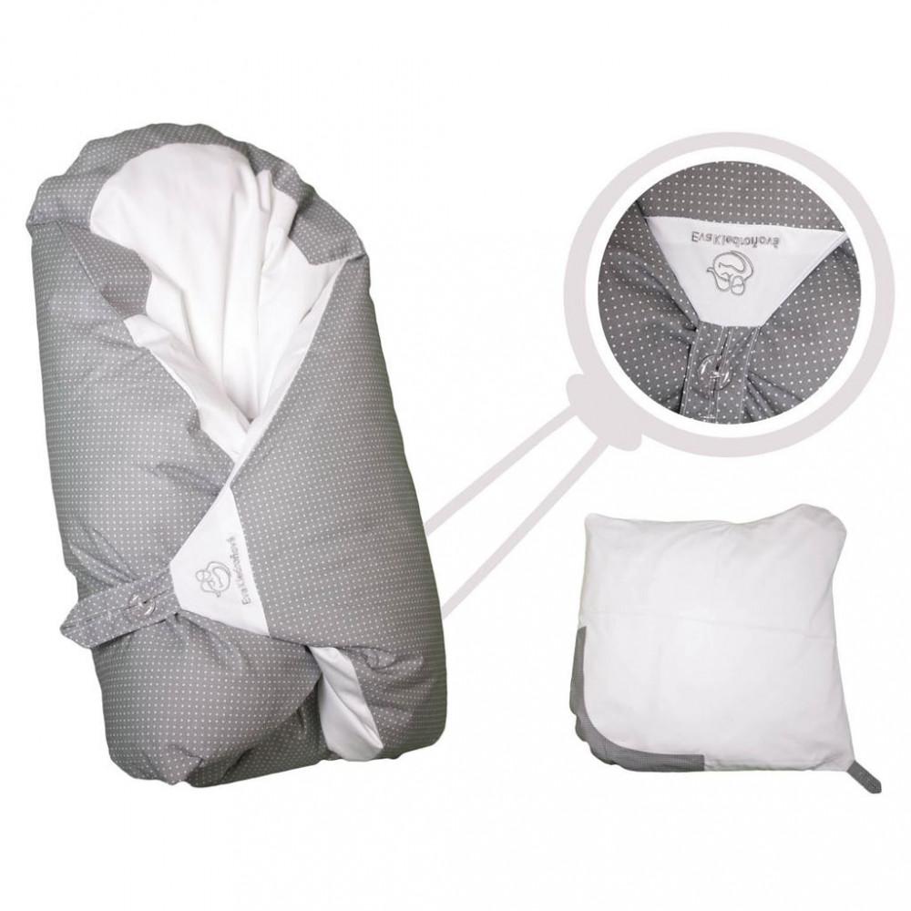Obliečka sivá s bodkami na zavinovačku Maxi Dráčik