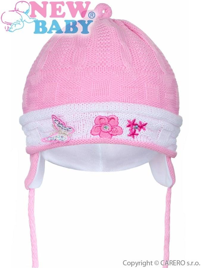 e15eec4fc Pletená detská čiapočka New Baby tmavo ružová - Detské čiapky - Locca.sk