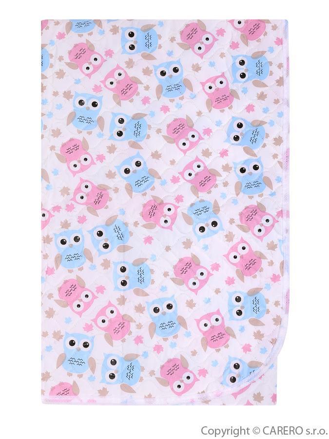 Prebaľovacia podložka Akuku 55x70 sovy ružovo-modré biela